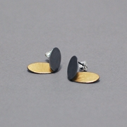 Oval wings earrings-oxidised