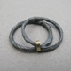 oxidised double thread ring
