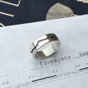 Edinburgh City Skyline Ring