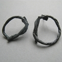 Large oxidised string earrings