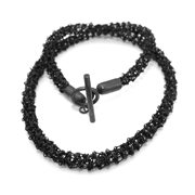Oxidised Woven Necklace