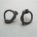 Small oxidised string earrings