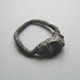 oxidised thread ring with cast stone
