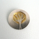 gold dome tree brooch