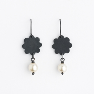 Oxidised Flower Earring