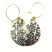 Oxidised silver earrings