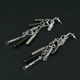 Platinum Frost CZ Seven Drop Earrings 2