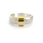 sue lane 18k gold and silver ring