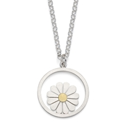 Large daisy and circle pendant