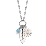 aster and leaf pendant