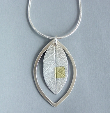 leaf in leaf pendant
