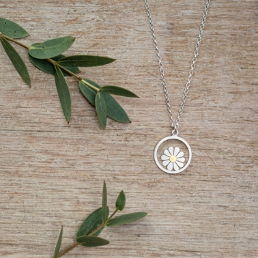little framed daisy pendant 2