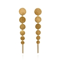Paillette Large Drop Earrings Gold