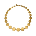 Paillette Graduated Disc Collar Gold