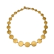 Paillette Graduated Disc Collar Gold Vermeil