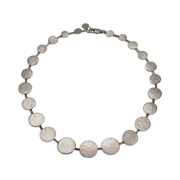 Paillette Graduated Disc Collar Silver