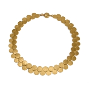 Paillette Double Row Disc Collar Gold