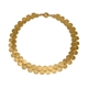 Paillette Double Row Disc Collar Gold Vermeil
