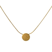 Paillette Tiny Disc Pendant Gold 1