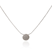 Paillette Tiny Disc Pendant Silver 1