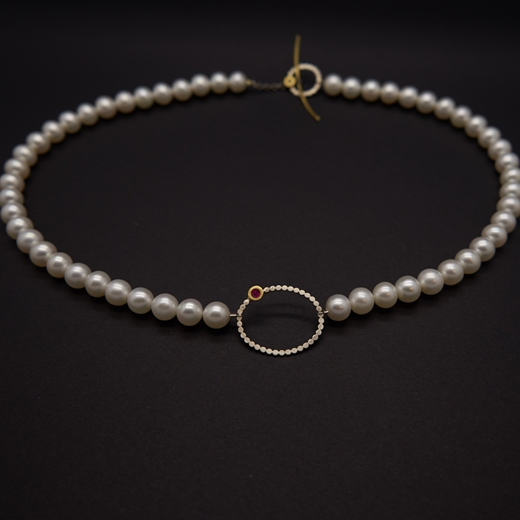 pearl enso ruby necklace.