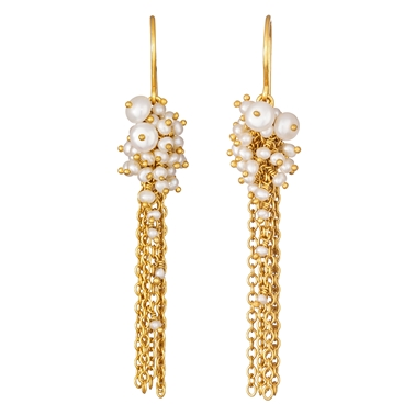 Pearl Tassel Earrings