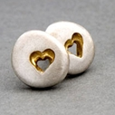 HEART PEBBLE STUDS