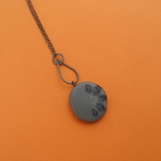 grey long pendant