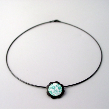 daisy pendant small turquoise