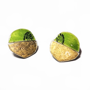 Petri split earring green