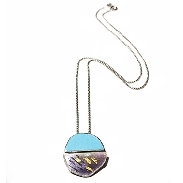 Petri split pendant blue and purple