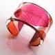 Pink & orange white beam cuff