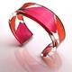 narrow Pink and orange white beam cuff