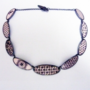 pink oval necklace