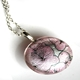 Pale Pink Tiny Hydrangea Pod Pendant Necklace