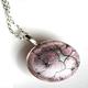 Pale Pink Tiny Hydrangea Pod Pendant Necklace