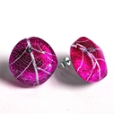 Magenta stud earrings sue gregor
