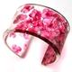 Pink hydrangea cuff