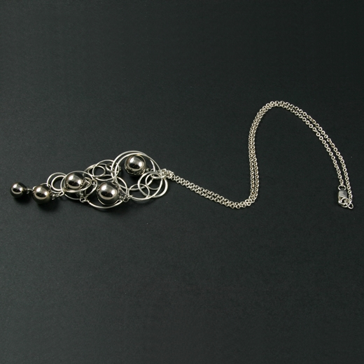 Platinum Quintuple Bubble Pendant 2