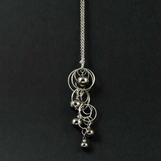 Platinum Quintuple Bubble Pendant 3