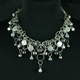 Platinum Frost CZ Smaller Bubble Necklace
