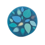 turquoise garden brooch
