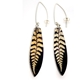 Purple Gold fern drop earrings