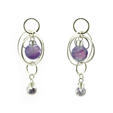 Purple Double Bubble Earrings