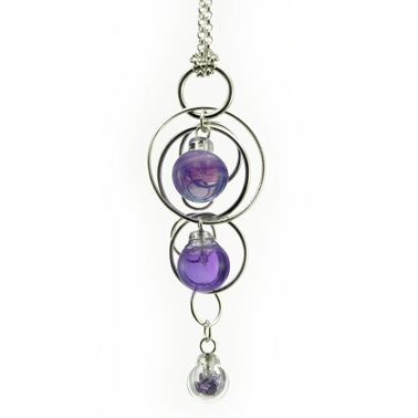 Purple Triple Bubble Pendant