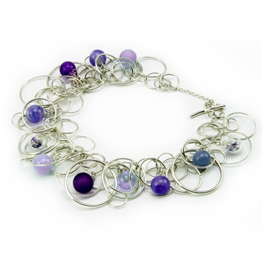 Purple Bubble Bracelet