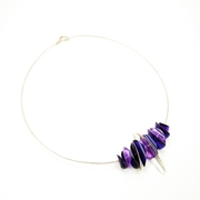 purple cable necklace