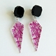 purple facets earrings 2