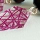 purple facet earrings 4