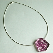 purple facets pendant 1